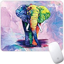 Marphe Mouse Pad Colored Elephant Drawing Mousepad Non-Slip Rubber Gaming Mouse Pad Rectangle Mouse Pads for Computers Laptop