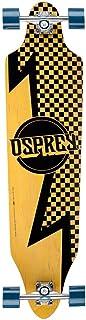 Osprey Longboard Bolt - Skateboard (a Cuadros, Tablas), Color marrón, Talla 40 Inch