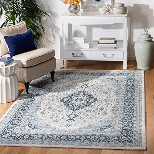 Safavieh Mehrzweck-Teppich für den Innenbereich 90 x 150 cm Creme / Dunkelblau