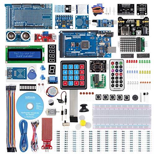 SUNFOUNDER Mega2560 Starter Kit für Arduino Ultimate Starter Kit mit 291 Elektronik Artikeln, MEGA2560 R3 Board und Deutschem Tutorial