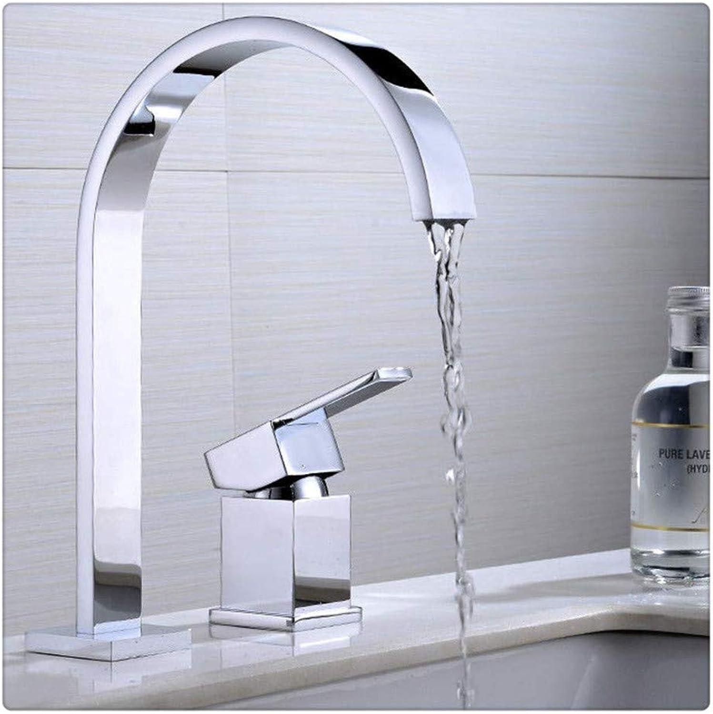 Kitchen Brass Retrobathroom Sink Taps Modern Deck Mounted Single Handle Chrome Tap Bathroom Sink Faucet