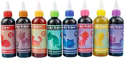 XHXseller 5/8 colores/juego no tóxico Tie-Dye Kit de tinte, accesorios de ropa para decoración de tela, pintura de teñido, para familiares amigos y ...