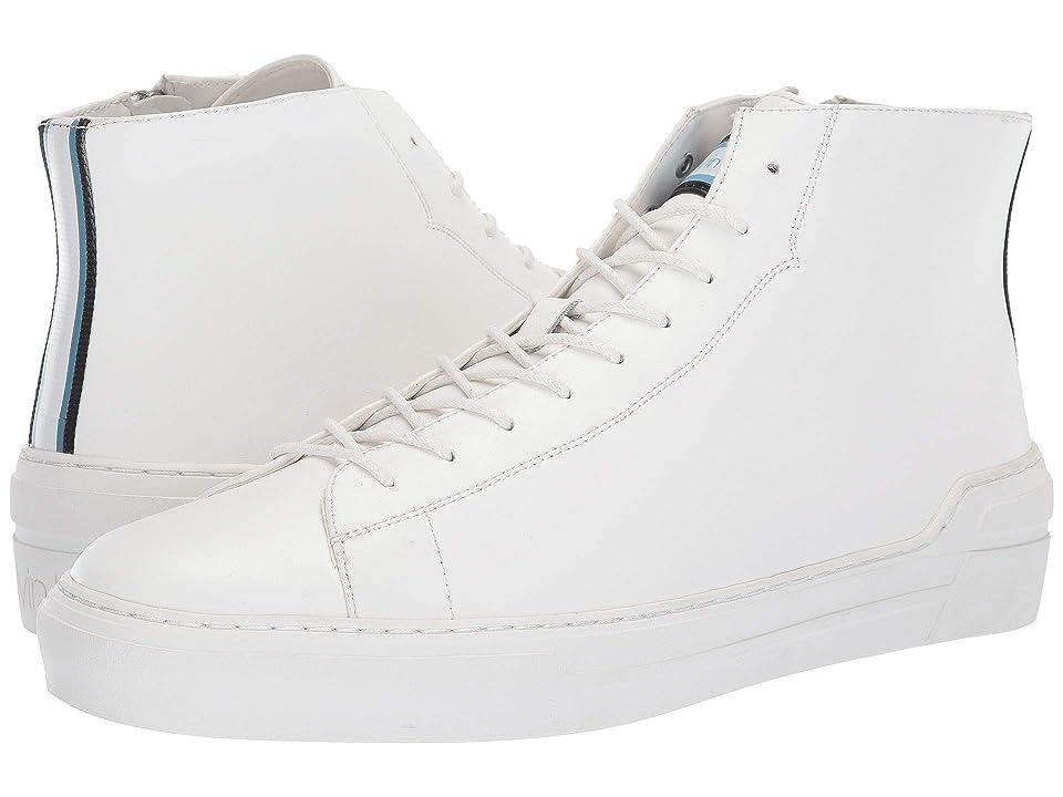 Calvin Klein Okey (White Smooth Calf/Nylon Webbing Stripe) Men