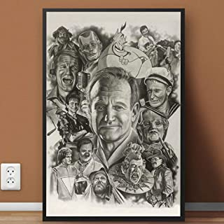 Remembering #Robin #Williams on his Birthday Drawing Painting Art R-I-P Poster Home Art Wall Art Posters Prints Livingroom Kitchen-Room No Frame (16x24)