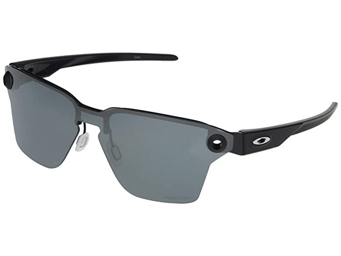 Oakley  39 mm Lugplate (Satin Black Frame Prizm Black Lens) Fashion Sunglasses