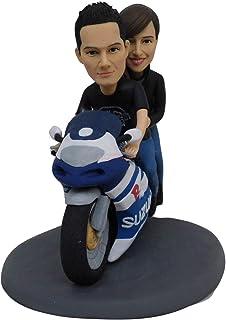 motos pastel de bodas toppers dos dulce corazón feliz cumpleaños aniversario pareja fiesta regalos muñeca muñeca estatuilla