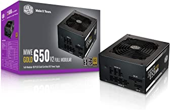 $99 » Cooler Master MWE Gold 650 V2 Fully Modular, 650W, 80+ Gold Efficiency, Quiet HDB Fan, 2 EPS Connectors, High Temperature ...