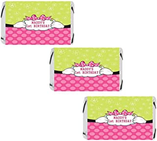 Personalized Mouse Miniatures Candy Bar Wrapper Stickers