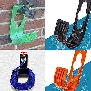 Woopower – Soporte para manguera de jardín, montaje en pared, flexible, para manguera de jardín, hogar, color al azar