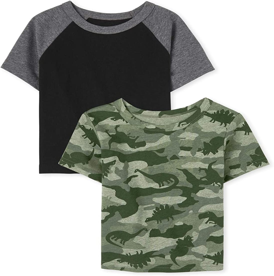 The Children's Place Baby and Toddler Boys Camo Raglan Top 2-Pack