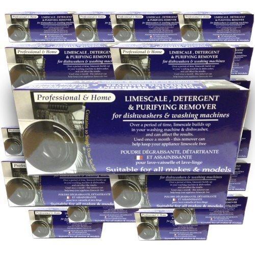 JYW 24 Boxen X Limescale & Detergent Remover voor Wasmachines & Vaatwassers 10 Toepassingen, 10 maanden levering
