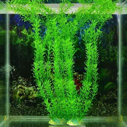 wuayi Aquarium-Pflanzen, künstliches Wassergras, dekorativ, 26,9 cm, Grün, 3 Stück