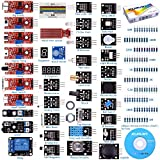 kuman para Arduino Kit, para Arduino-R3 Raspberry Pi 3 Mega 2560 R3, 37 en 1 Módulo Sensor Proyectos para Arduino Starter Kit K5 (Updated Version)
