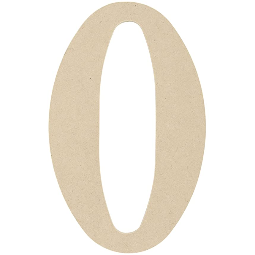 MPI MDF Classic Font Wood Letters and Numbers, 9.5-Inch, Number 0