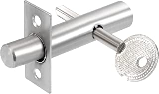uxcell 13mm Dia Cylinder Core Stainless Steel Hidden Tubewell Key Mortise Lock