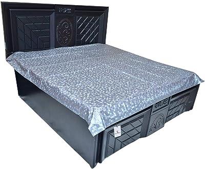 Kuber Industries PVC Double Bed Mattress Protector Sheet, Grey, 6.5 * 6 feet - CTKTC22301, Standard