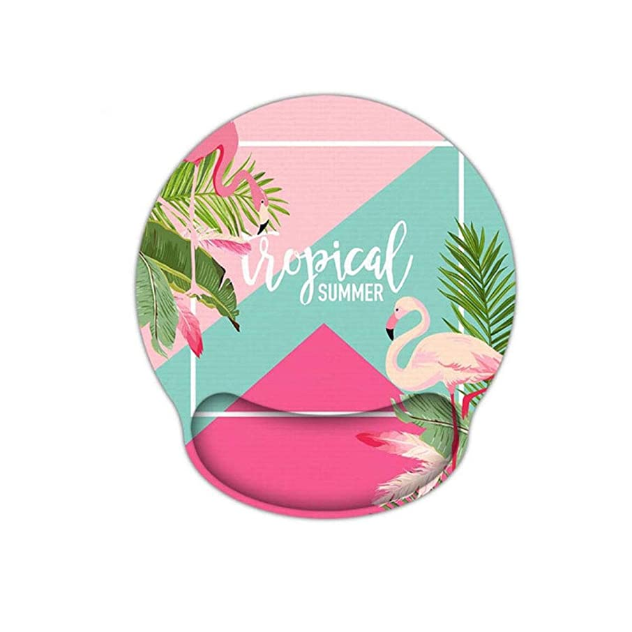 CQIANG Mouse Pad, Artificial Creative Office Wristband, Memory Cotton Wrist Pad, Thickened Game Pad, Best Gift Ergonomically Designed for a More Comfortable offi (Color : Flamingo)