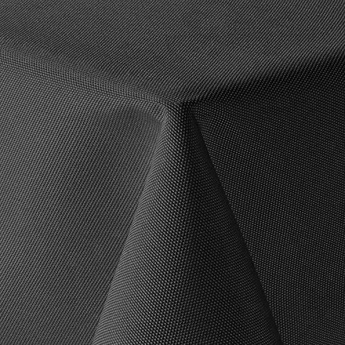 amp-artshop Tischdecke Leinen Optik Eckig 110x180 cm Dunkelgrau BZW. Anthrazit - Farbe, Form & Größe wählbar mit Lotus Effekt - (E110x180DGrau)