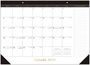 "Desk Calendar 2020-2021: 17"" x 12"" Large Monthly Desk Pad Calendar for Planning & Organizing, 12 Months Desktop/Wall Calendar Planner Runs from September 2020 to August 2021"
