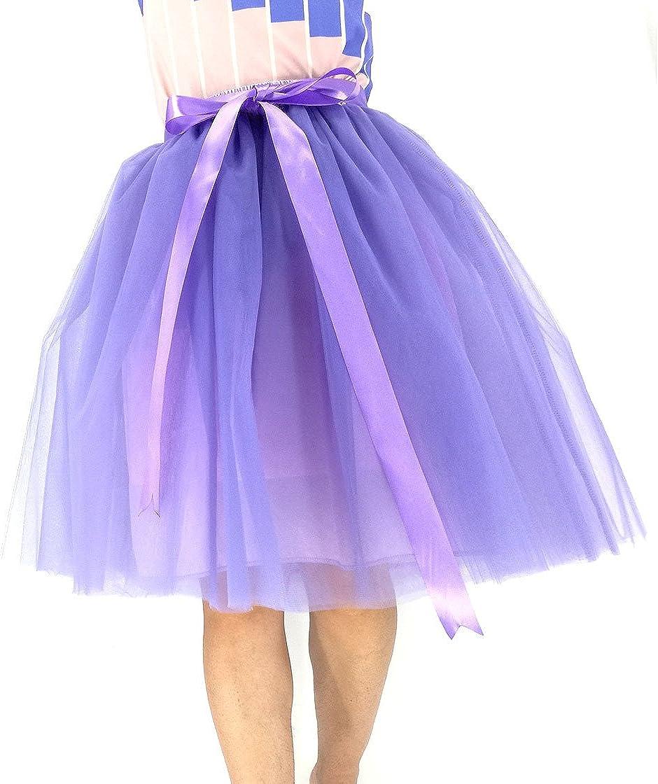 URVIP Women's 50s Petticoat Retro Folding Skirt Underskirt for Carnival, Wedding and Party
