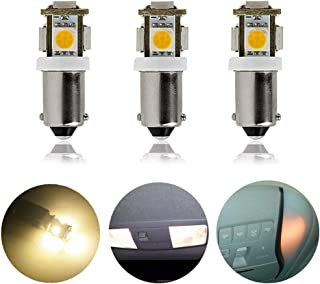 DengTA 12V BA9s LED Light Bulbs Miniature Bayonet Base Replacement Bulbs for RV and Boat Navigation Light Bulb Dome Lights Map Lights (3-Pack 1-Watt, Warm White)