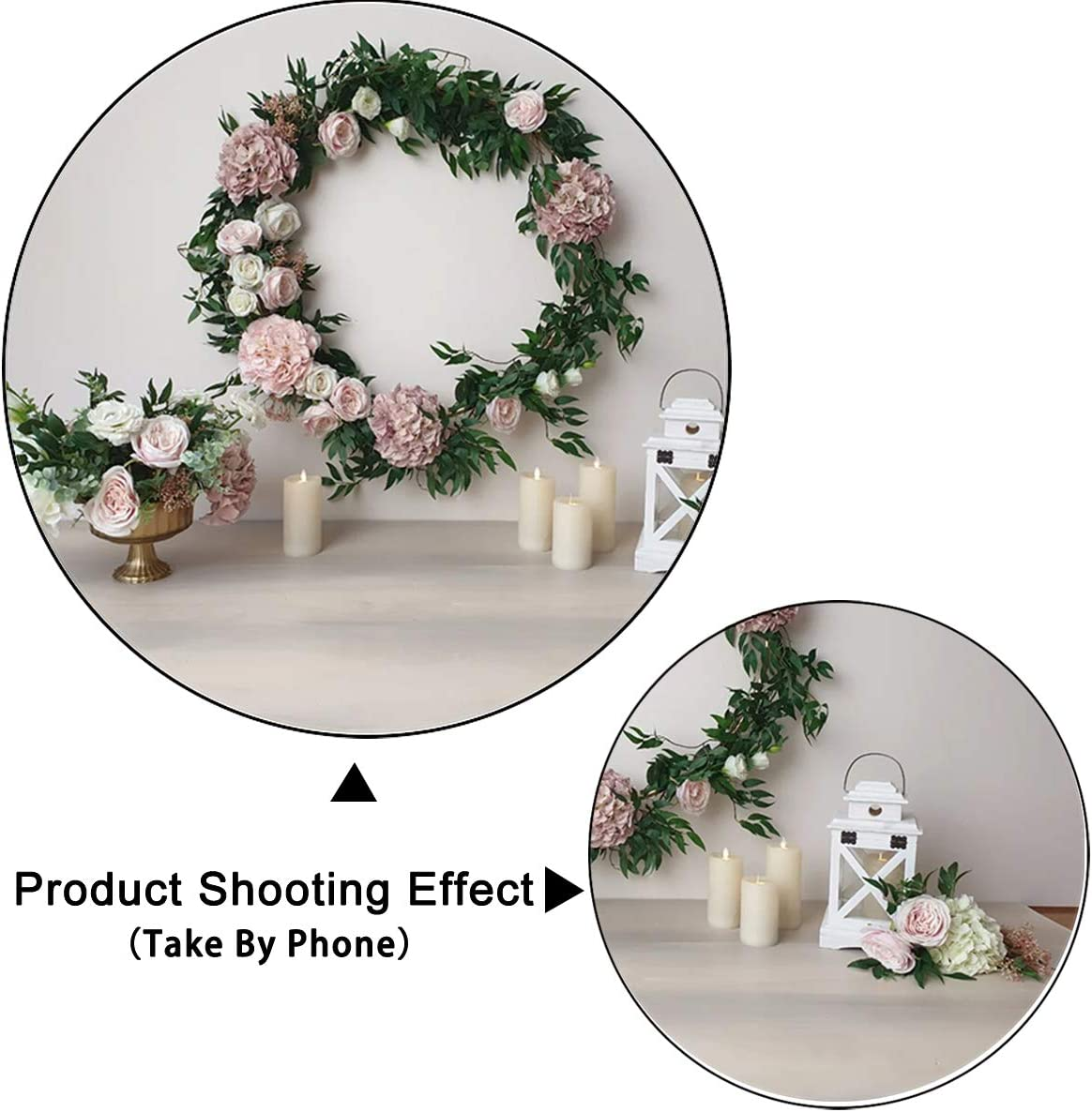 Levoo Flannel Flowers and Grass Wall Background Banner Photography Studio Boy Girl Birthday Family Party Holiday Celebration Romantic Wedding Photography Backdrop Home Decoration 5x3ft,chy290