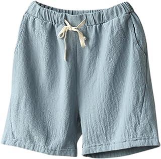 978a3d68c50c51 TUDUZ Bermuda Shorts Damen Shorts Sommer Kurze Hose mit Gummizug Frauen Große  Größen Loose Stoffhose Stretch