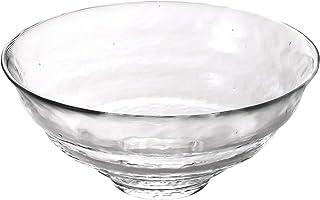 アデリア 津軽びいどろ 耐熱ガラス 抹茶椀 クリア 最大約15cm×高さ約6cm 清(せい) 1個入 日本製 F71248