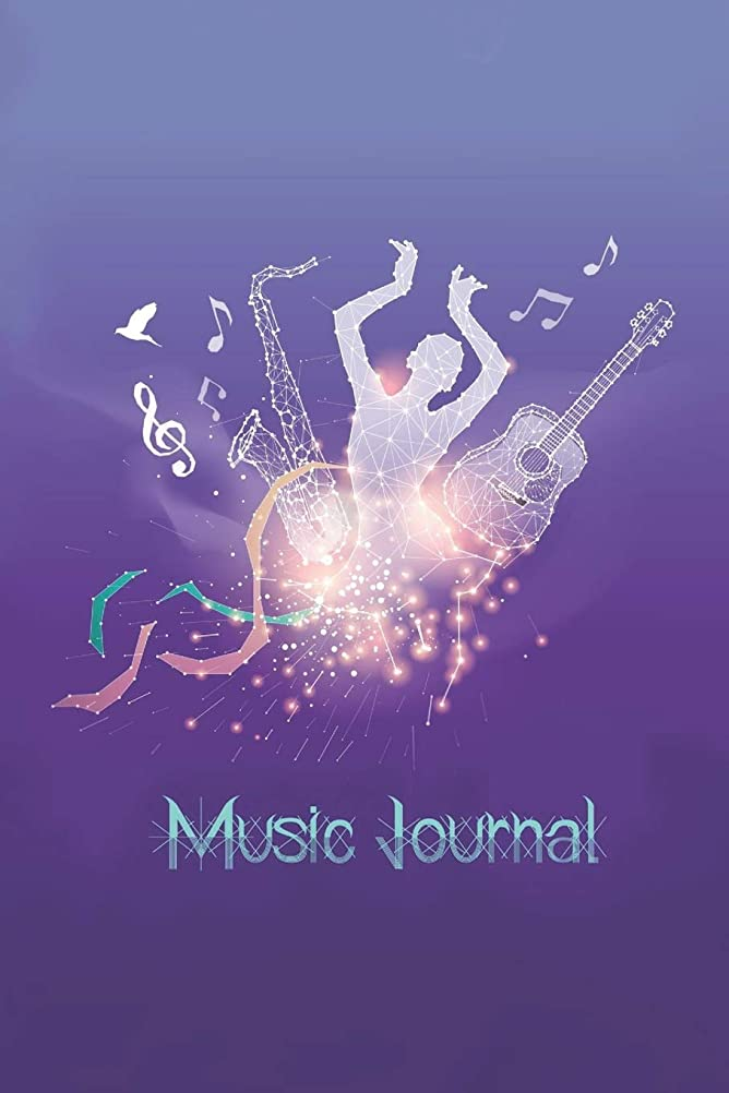 スキームオンス巨人Music Journal: Music Songwriting Journal: Blank Sheet Music, Lyric Diary and Manuscript Paper for Songwriters and Musicians Gifts for Music, Sax, Guitar, The Galaxy and The Star Lovers