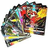 200 tarjetas de juego de dibujos animados para niños, colección GX, incluyendo trajes de Pokemon Cards, Pokémon Tarjetas Flash (20energía+10Trainer +170gx)