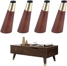 Meubelpoten * 4,houten metaal | taps toelopende | walnoot kleur | tafelpoten bank salontafel steunpoten(10/12/15/18cm)