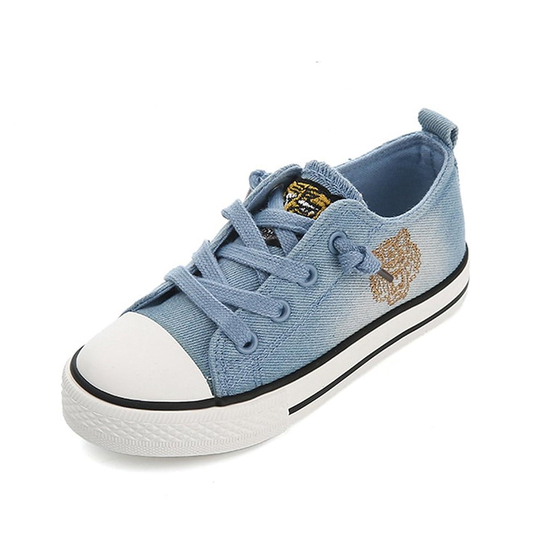 [XINXIKEJI] 子供靴 女の子 男の子 ガールズ ボーイズ キッズシューズ ローカット スニーカー デッキシューズ 履きやすい 滑り止め 通気 軽い キャラクター コンフォート 可愛い 通学靴 運動靴 内寸20.5cm ブルー