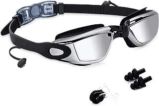 Youyou Gafas de Natación, Antiniebla Gafas Natacion, Protección UV sin Fugas, Gafas para Nadar para Adulto Hombre Mujer y Niños