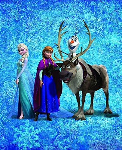 Coperta in Pile Anna Elsa Olaf Frozen 130x 160cm