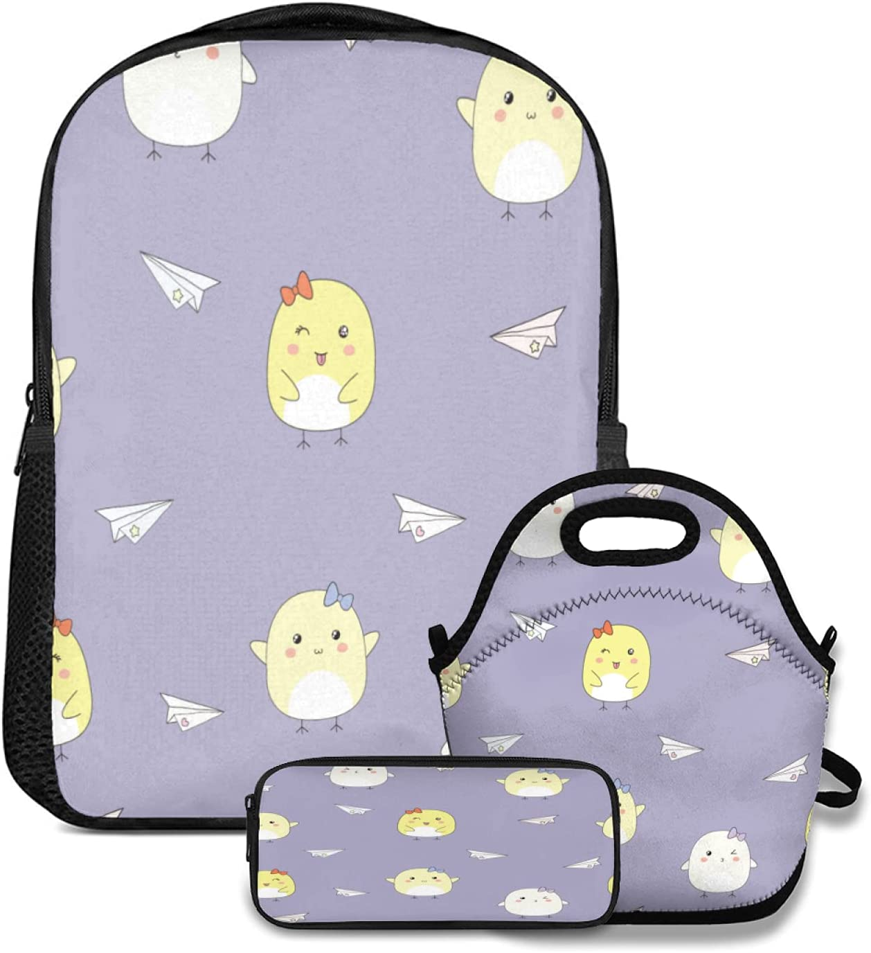 Backpack Sale item SEAL limited product Lunch tote Bag and Pencil Case Seamless pattern 3pc set