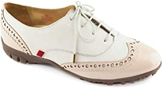 MARC JOSEPH NEW YORK Womens Genuine Leather Made in Brazil Golf NYC Laceup Performance Fashion Shoe