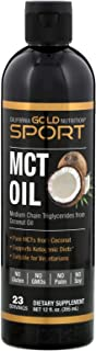 California Gold Nutrition MCT Oil from Coconut Oil 12 fl oz 355 ml, Egg-Free, Fish-Free, Gluten-Free, Ketogenic Diet, Milk...