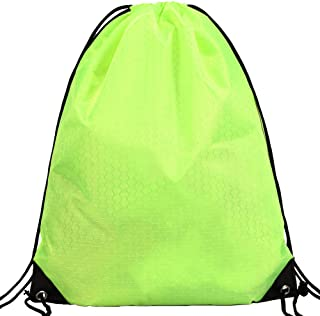 JUNFA Cinch Bags Drawstring Backpack-1,4,8,10 Pack Not See-through Pull String Bag-Football Pattern¡