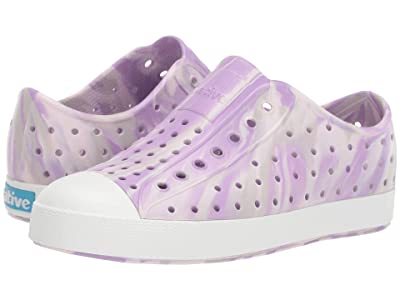 Native Kids Shoes Jefferson Marbled (Little Kid/Big Kid) (Milk Pink/Shell White/Marbled) Girls Shoes