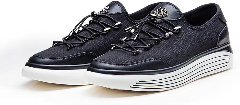 CJC Schuhe Mens Fashion Laufende Kausal Sport Turnschuhe Athletic Walk Gym Slip on (Farbe   schwarz)