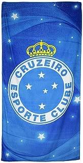 kdipae Cruzeiro Esporte 07 Licensed Brazilian Soccer Team Velour Beach Towel 31 x 51 Inch