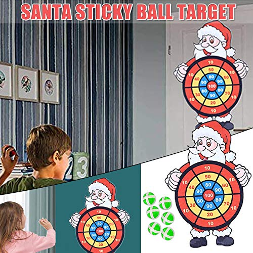 Janly Clearance Sale Education Toys, Children's Sticky Ball Dart Board Santa Target Sticky Ball Disk, Toys and Hobbies for Kid's Gift