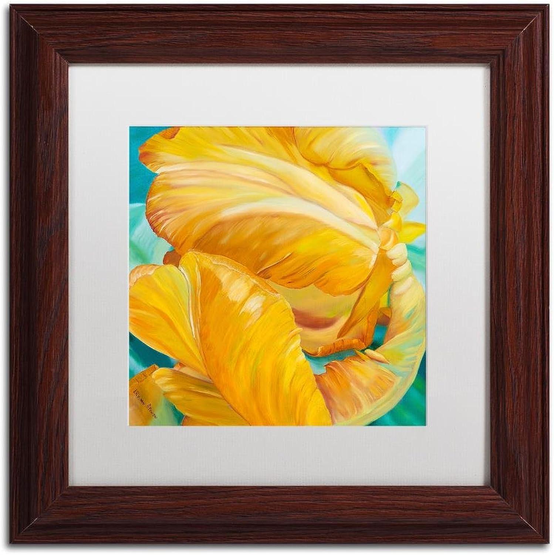 Trademark Fine Art Tenderness by Lily Van Bienen, White Matte, Wood Frame 11x11