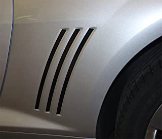 MoProAuto Pro Design Series Original Gills : 2010-2015 Chevy Camaro Gill Vent Blackouts Vinyl Graphic Decal Stripes (Color-3M 50 Light Charcoal Metallic)