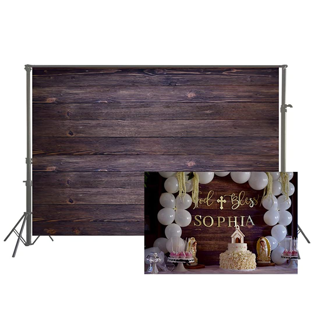 Muzi Photography backdrops Brown Wood Planks Background Baby Shower Art Fabric Photo Booth Props 3x5ft XT-3634