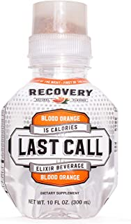 Last Call Recovery & Hangover Prevention Water, Blood Orange, 10 Ounce Bottle