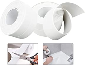 Mold Sealer, Badkuip Caulk Strip PE Waterdichte Zelfklevende Sealant Tape voor badkamer, keuken, bad en muur hoek rand (2 ...