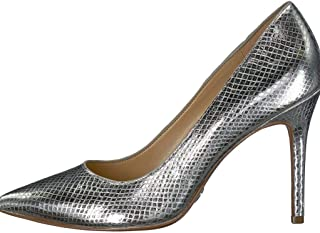 Michael Michael Kors Women's Claire Metallic Embossed Silver Pump 8.5 M US