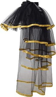 GRACEART Steampunk Tie-on Bustle Costume Tutu Lace Underskirt (Golden Edge)