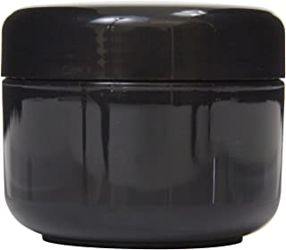 Houseables Black Jar Lotion Container, 2 Oz, 60 ML Gram Capacity, 24 pcs, Plastic, BPA Free, w/Removable Inner Liners & Dome Lids for Cosmetic Samples, Cream